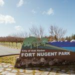 Fort Nugent Park Sign, Park, Oak Harbor, Whidbey Island